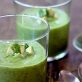 Холодный суп из авокадо и цукини