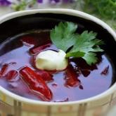 Суп Холодничек (свекольник)