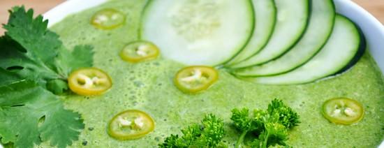 Холодный суп зеленый коктейль