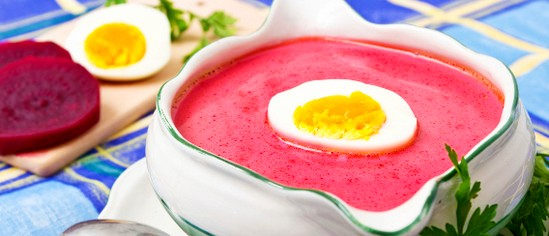 Суп свекольник холодный