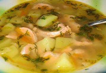 Суп из форели по-домашнему