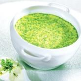Суп из зеленого горошка и кресс-салата