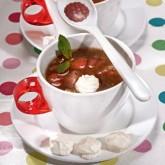 Холодный клубничный суп